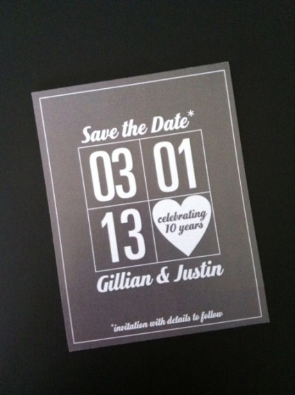 Gillian & Justin's Save The Date