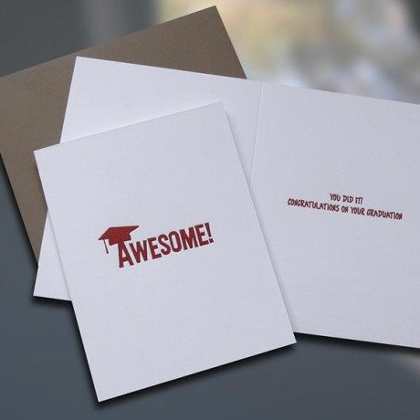 Awesome Graduation Card - Sky of Blue Cards - $4.50 each