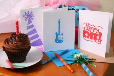 Sky of Blue Cards Letterpress Birthday Cards – $4.50 each