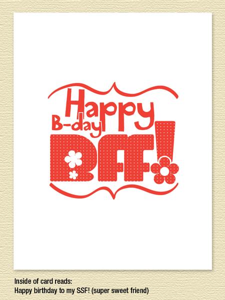 bff birthday card  sky of blue cards, Birthday card