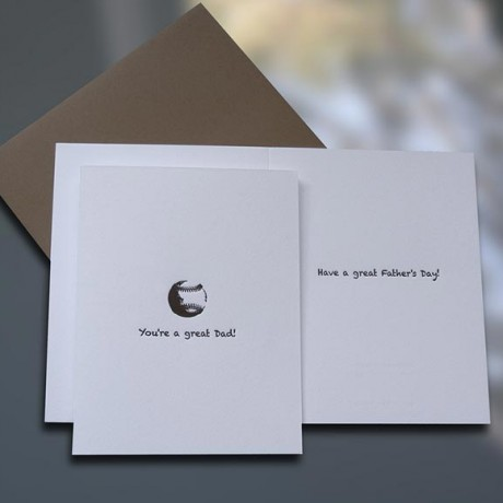 Baseball Father's Day Card - Sky of Blue Cards - $4.50 each