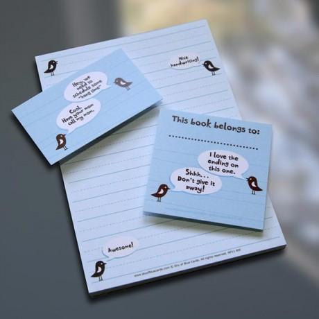 Birdie Notepad Set - Sky of Blue Cards - $7-$19