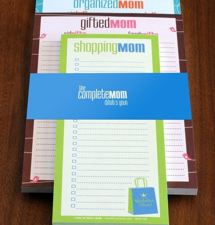 Complete Mom Notepad Set - Sky of Blue Cards - $18