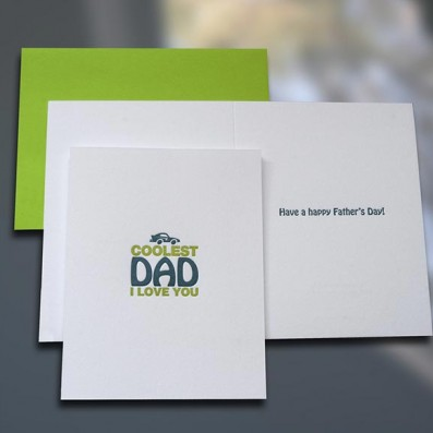 Coolest Dad Father's Day Card – Sky of Blue Cards – $4.50 each