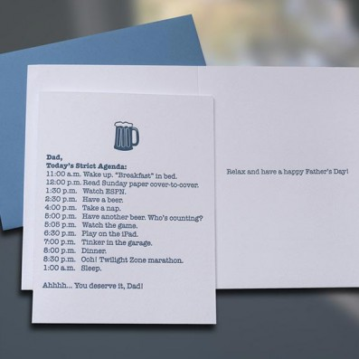 Dad Agenda Father's Day Card – Sky of Blue Cards – $4.50 each