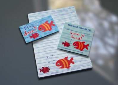 Fish Friends Notepad Set – Sky of Blue Cards – $7-$19