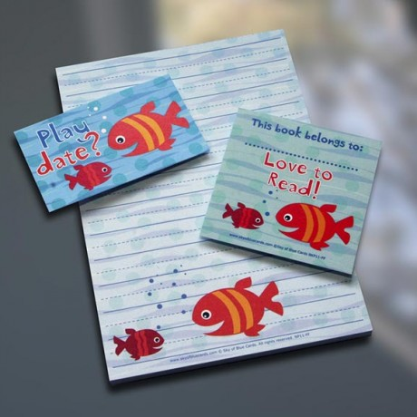 Fish Friends Notepad Set - Sky of Blue Cards - $7-$19