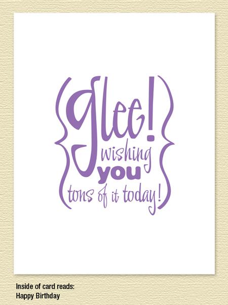 Glee Birthday Card sky of blue cards – Glee Birthday Card