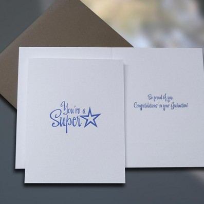 Graduate Superstar Graduation Card – Sky of Blue Cards – $4.50 each
