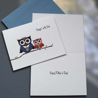 Hangin With Dad Owls Father's Day Card – Sky of Blue Cards – $4.50 each
