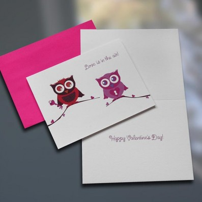 Love Owls Valentine's Day Card – Sky of Blue Cards – $4.50 each