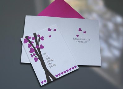 Love Tree Valentine's Day Card – Sky of Blue Cards – $4.50