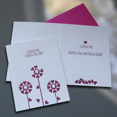 Loves Me Letterpress Valentine's Day Cards – Sky of Blue Cards – $4.50