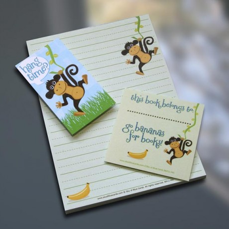 Monkey Notepad Set - Sky of Blue Cards - $7-$19