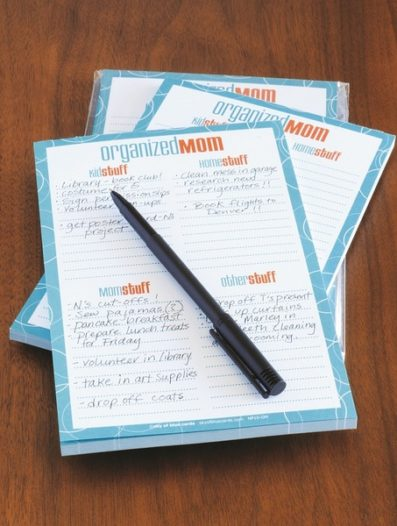 Organized Mom Notepad – Sky of Blue Cards – $8 for 50 sheets