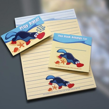 Platypus Notepad Set - Sky of Blue Cards - $7-$19