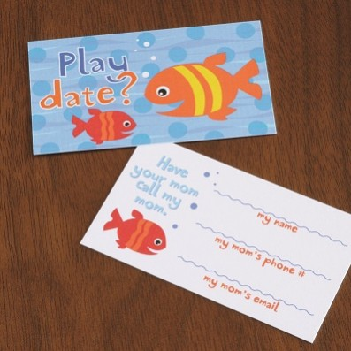 Fish Friends Playdate Cards  – Sky of Blue Cards – $7 set of 10
