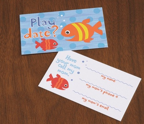 Fish Friends Playdate Cards  - Sky of Blue Cards - $7 set of 10