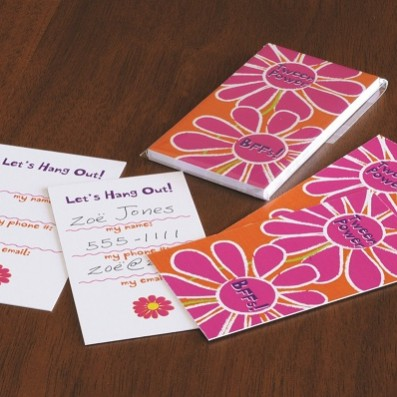 Tween Flower Hang Out Cards  – Sky of Blue Cards – $7 set of 10