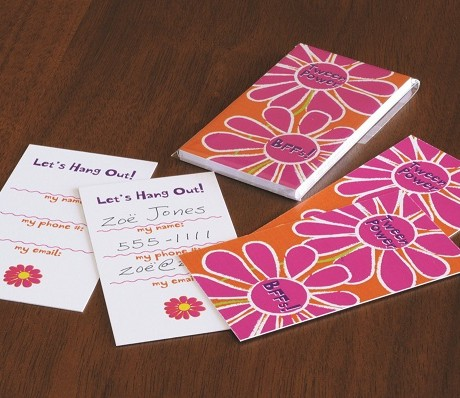 Tween Flower Hang Out Cards  - Sky of Blue Cards - $7 set of 10