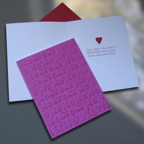 Seriously Valentine's Day Card - Sky of Blue Cards - $4.50