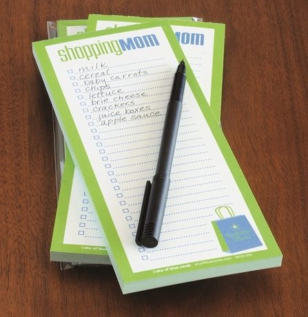 Shopping Mom Notepad - Sky of Blue Cards - $6 for 50 sheets