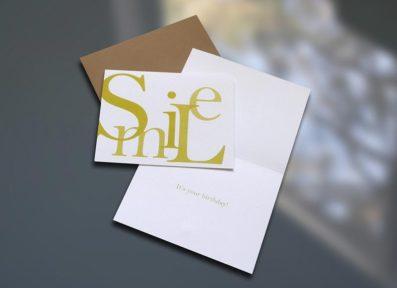 Smile Birthday Card – Sky of Blue Cards – $4.50