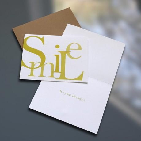 Smile Birthday Card - Sky of Blue Cards - $4.50