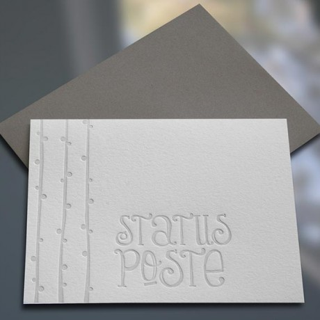Status Poste Letterpress Note Cards - Sky of Blue Cards - $4.50 single $18 boxed set of 8