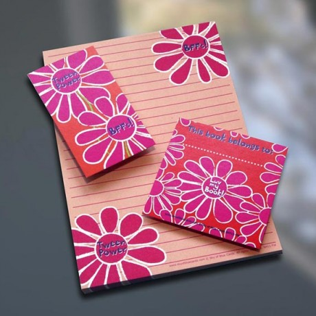 Tween Flower Notepad Set - Sky of Blue Cards - $7-$19