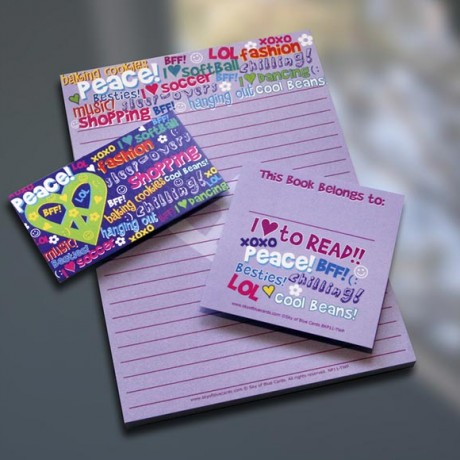 Tween Peace Note Pad Set - Sky of Blue Cards - $7-$19