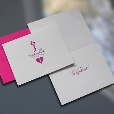 Unlock My Heart Valentine's Day Card – Sky of Blue Cards – $4.50 each