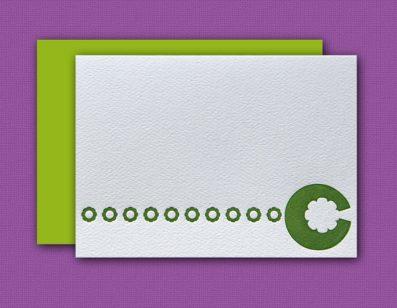 """""""C"""" Monogram Letterpress Note Cards – Sky of Blue Cards – Set of 6 $16"""