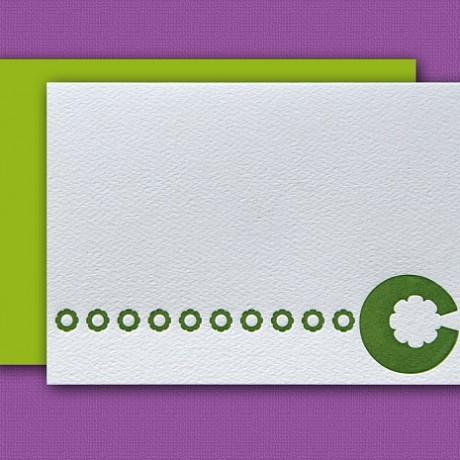"""""""C"""" Monogram Letterpress Note Cards - Sky of Blue Cards - Set of 6 $16"""