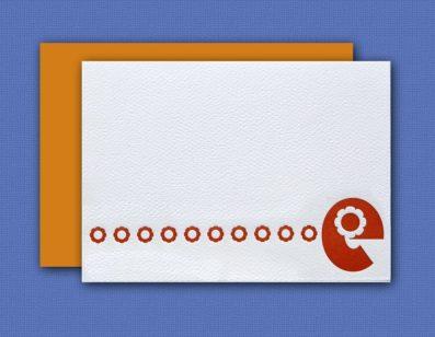 """E"" Monogram Letterpress Note Cards – Sky of Blue Cards – Set of 6 $16"