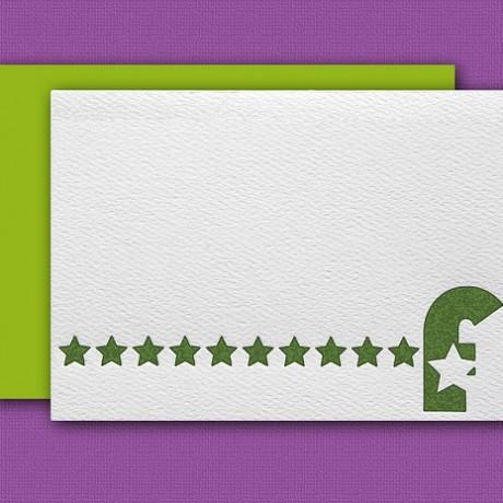 """""""F"""" Monogram Letterpress Note Cards - Sky of Blue Cards - Set of 6 $16"""