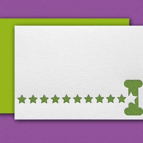 """""""I"""" Monogram Letterpress Note Cards - Sky of Blue Cards - Set of 6 $16"""