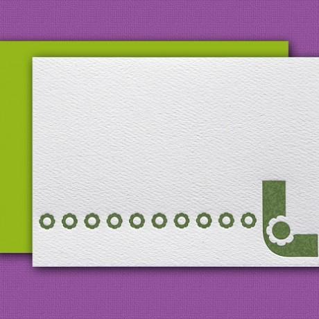 """""""L"""" Monogram Letterpress Note Cards - Sky of Blue Cards - Set of 6 $16"""