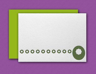 """O"" Monogram Letterpress Blank Note Cards – Sky of Blue Cards – $16 Box Set of 8"