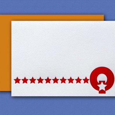 """Q"" Monogram Letterpress Blank Note Cards – Sky of Blue Cards – $16 Box Set of 8"