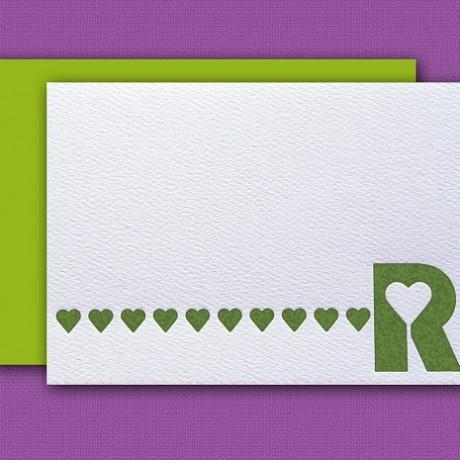 """R"" Monogram Letterpress Blank Note Cards - Sky of Blue Cards - $16 Box Set of 8"