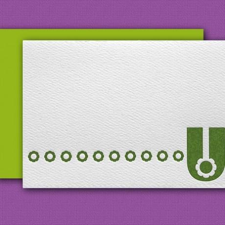 """U"" Monogram Letterpress Blank Note Cards - Sky of Blue Cards - $16 Box Set of 8"