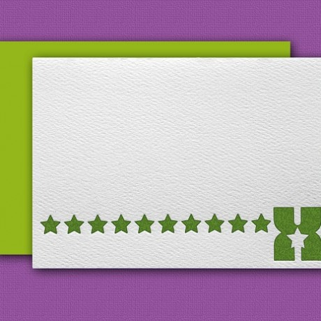 """X"" Monogram Letterpress Blank Note Cards - Sky of Blue Cards - $16 Box Set of 8"