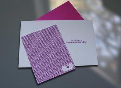 XOXO Letterpress Valentine's Day Card – Sky of Blue Cards – $4.50