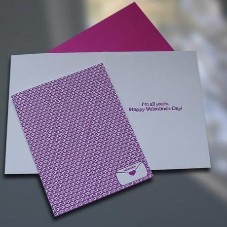 XOXO Letterpress Valentine's Day Card - Sky of Blue Cards - $4.50