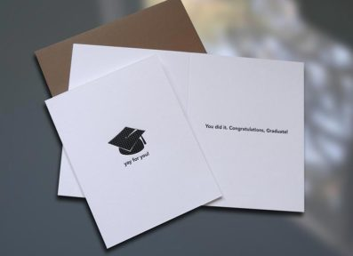 Yay For You Graduation Card – Sky of Blue Cards – $4.50 each