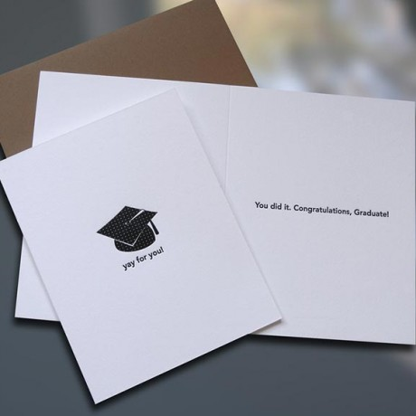 Yay For You Graduation Card - Sky of Blue Cards - $4.50 each