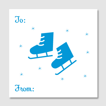 Ice Skates Gift Tags - Sky of Blue Cards - $6 for set of 10