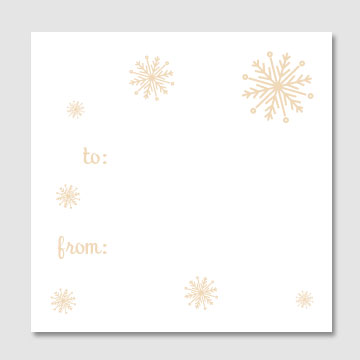 Snowflakes Gift Tags - Sky of Blue Cards - $6 for set of 10