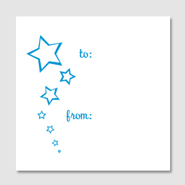 Stars Gift Tags - Sky of Blue Cards - $6 for set of 10